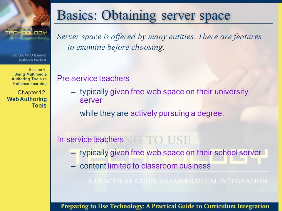 Basics: Obtaining server space
