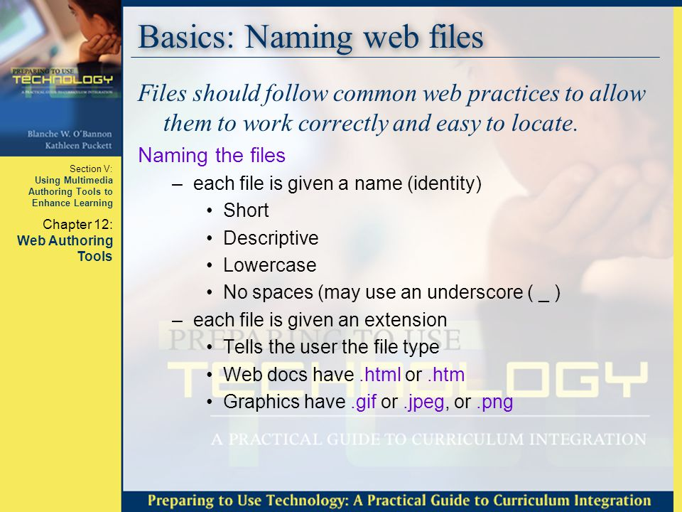 Basics: Naming web files