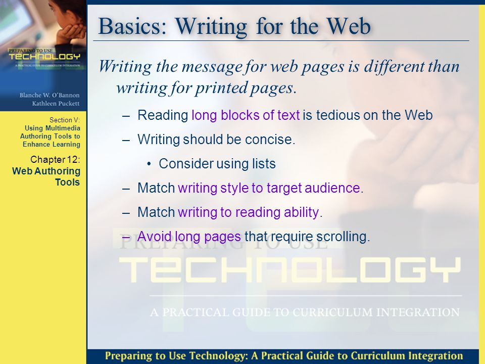 Basics: Writing for the Web