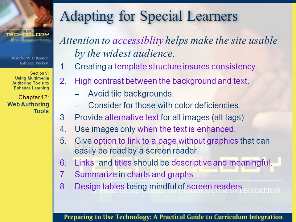 Adapting for Special Learners