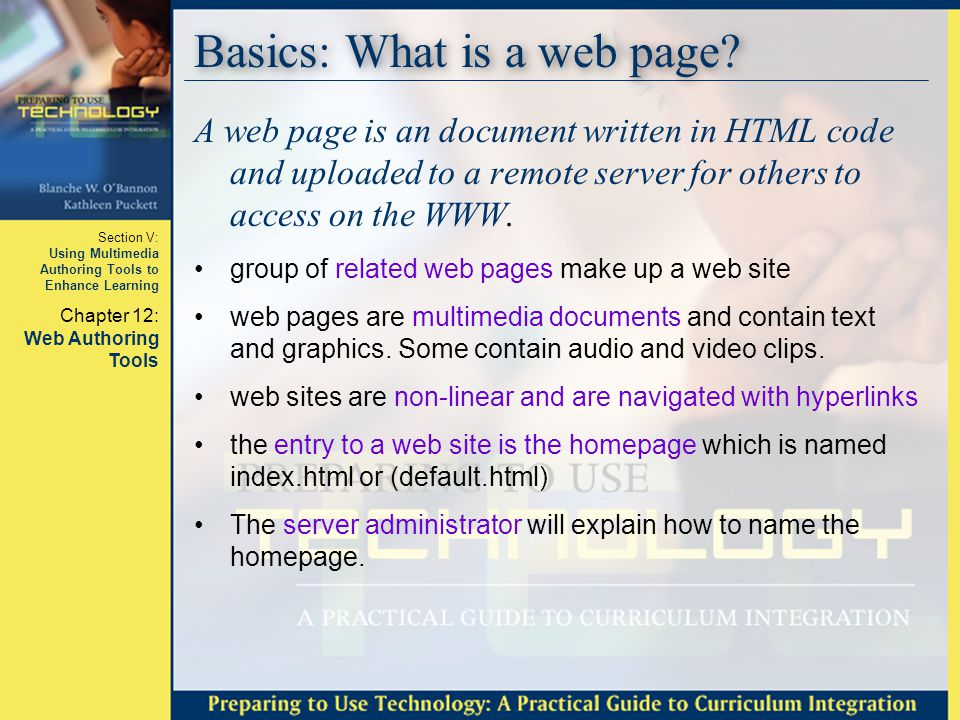 Basics: What is a web page