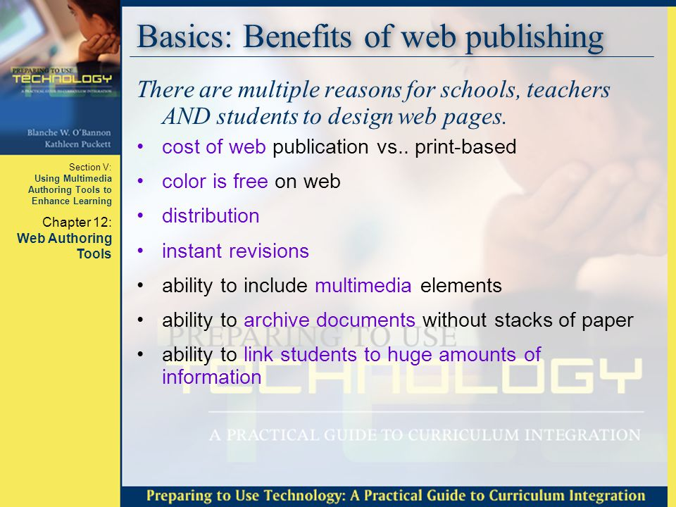 Basics: Benefits of web publishing