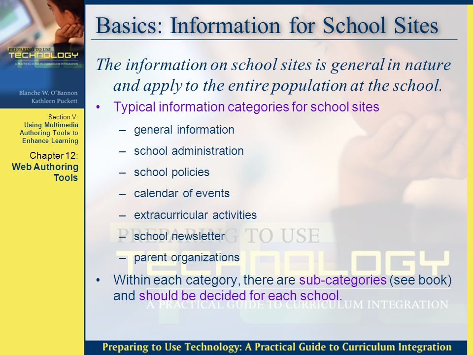 Basics: Information for School Sites