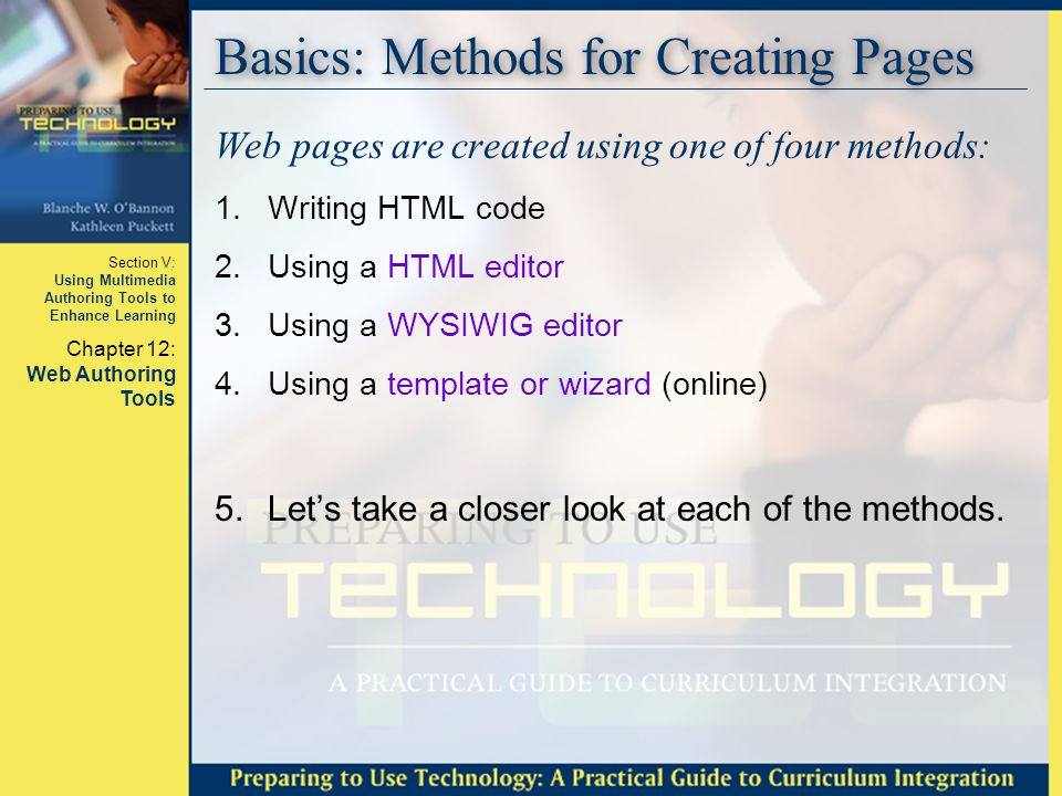 Basics: Methods for Creating Pages