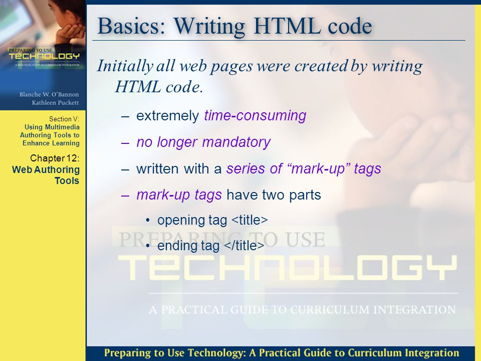 Basics: Writing HTML code