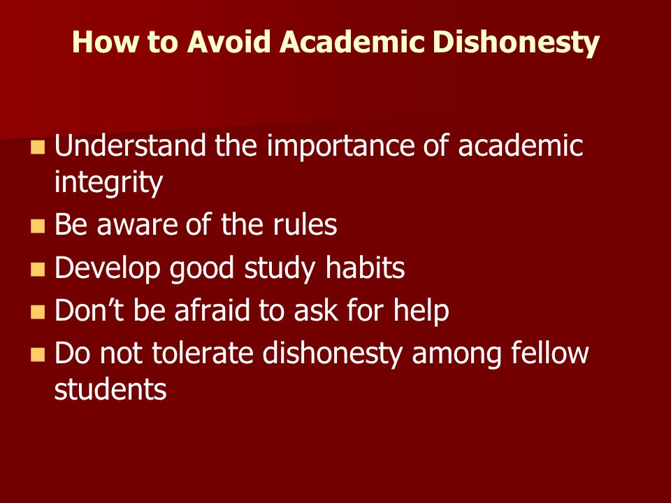 Academic Dishonesty What Can Be Done