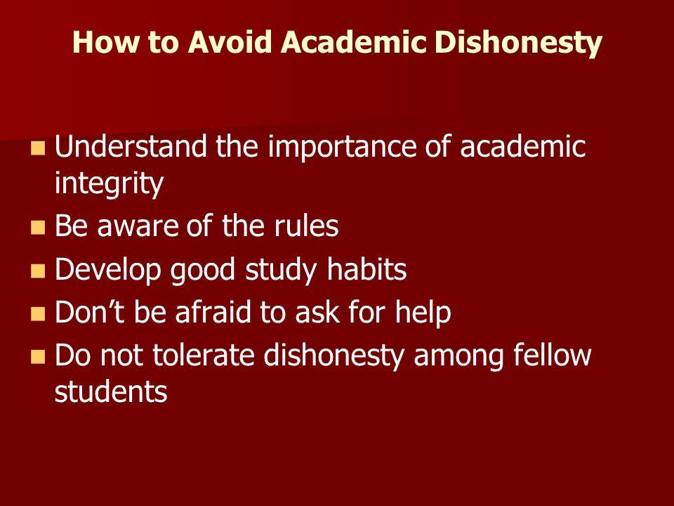 How to Avoid Academic Dishonesty