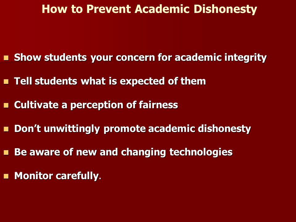 How to Prevent Academic Dishonesty