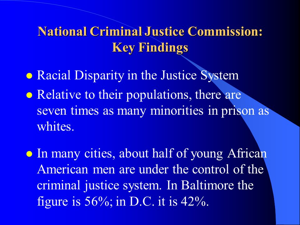 Racial disparity in criminal justice system essay