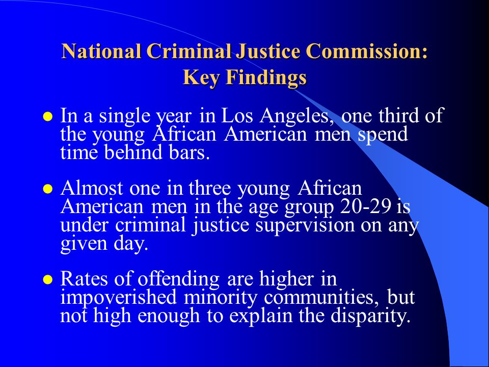 National Criminal Justice Commission: Key Findings