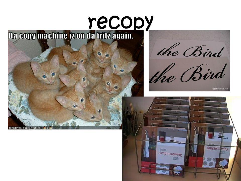 recopy