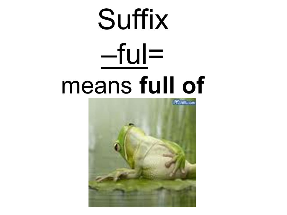 Suffix –ful= means full of