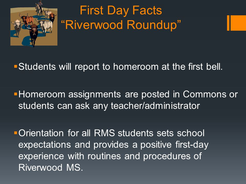 First Day Facts Riverwood Roundup
