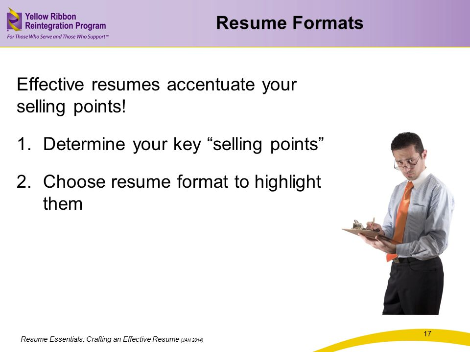 resume essentials  crafting an effective resume