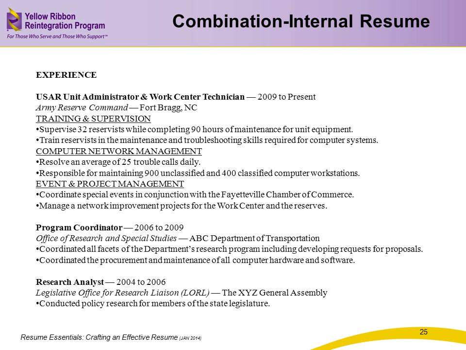 Combination-Internal Resume