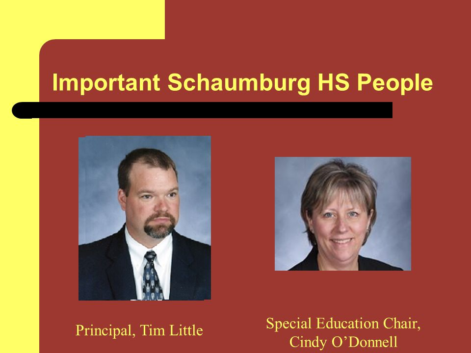 Important Schaumburg HS People