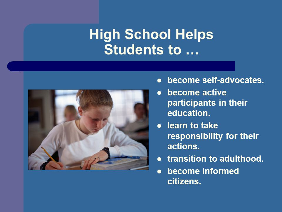 High School Helps Students to …