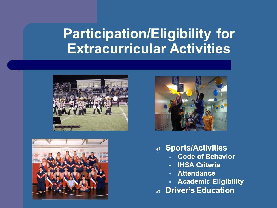 Participation/Eligibility for Extracurricular Activities
