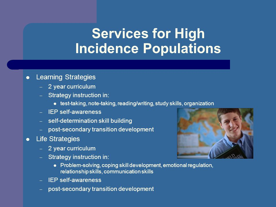 Services for High Incidence Populations