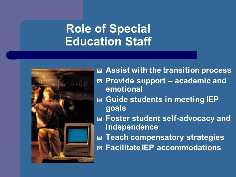 Role of Special Education Staff