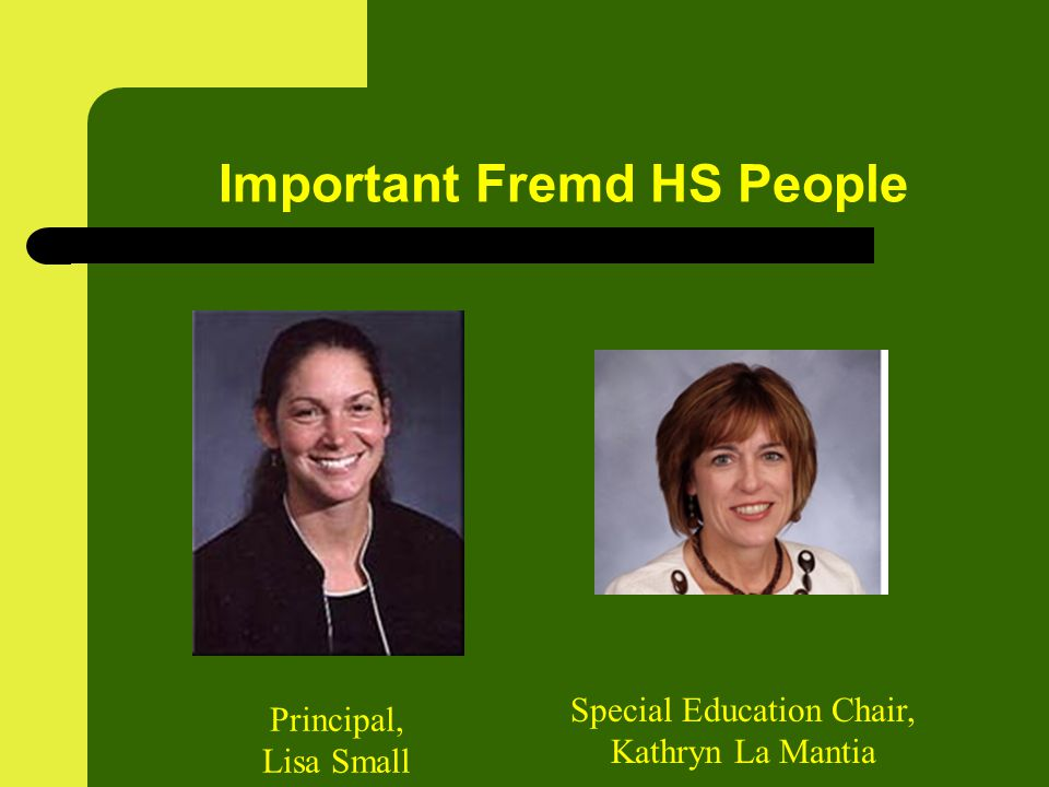 Important Fremd HS People