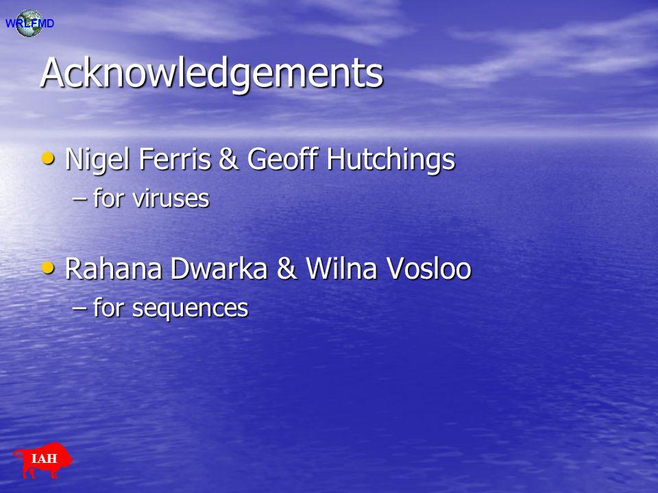 Acknowledgements Nigel Ferris & Geoff Hutchings