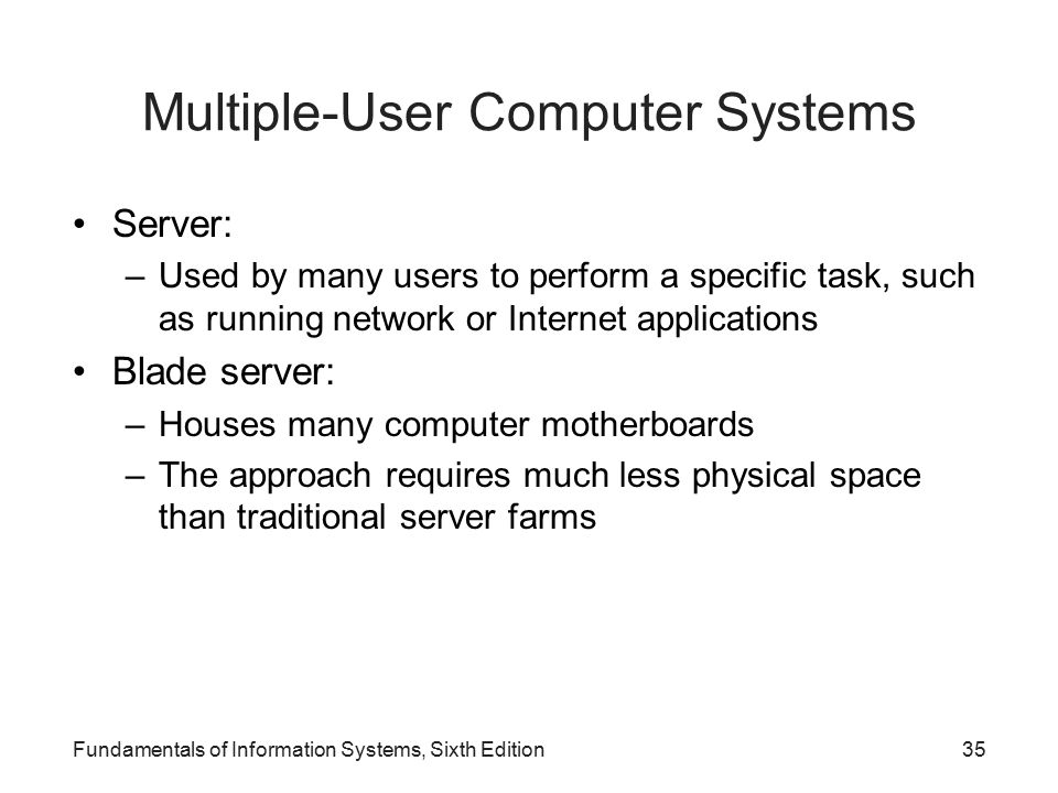 Multiple-User Computer Systems