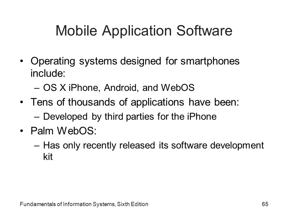 Mobile Application Software