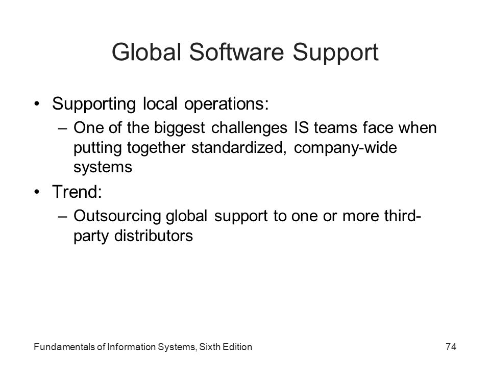 Global Software Support