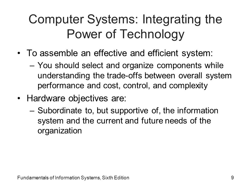 Computer Systems: Integrating the Power of Technology