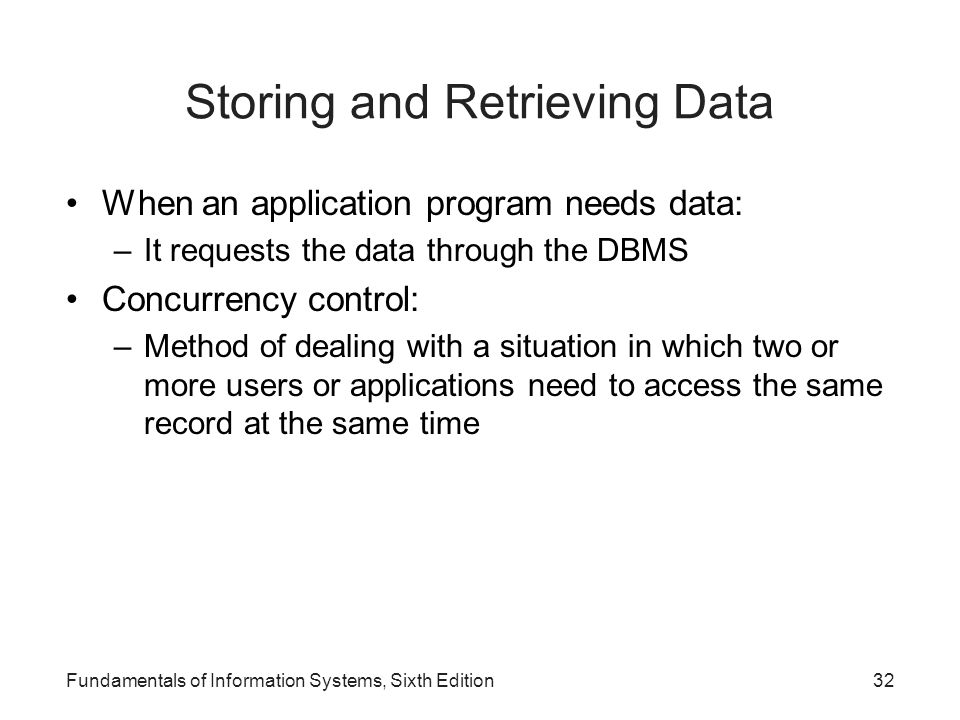 Storing and Retrieving Data