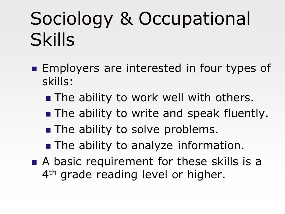 Sociology & Occupational Skills