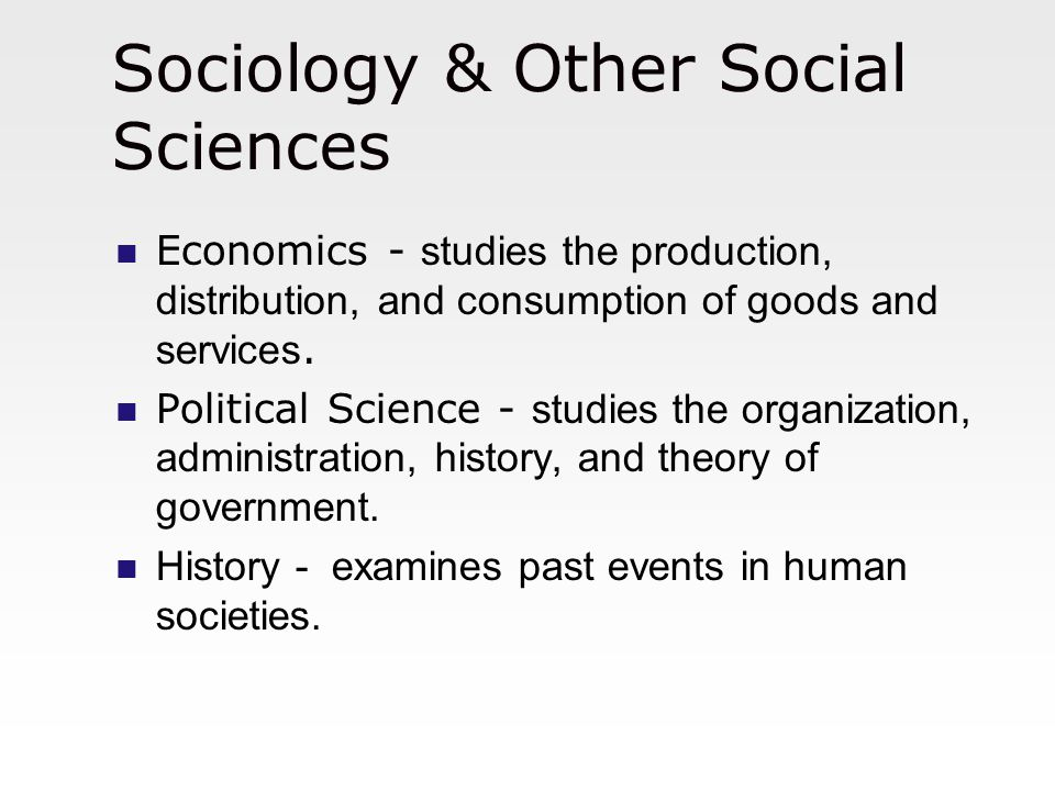 Sociology & Other Social Sciences