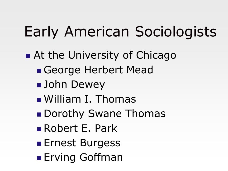 Early American Sociologists