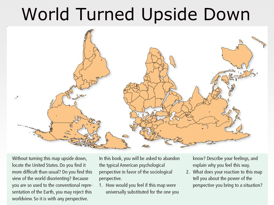 World Turned Upside Down