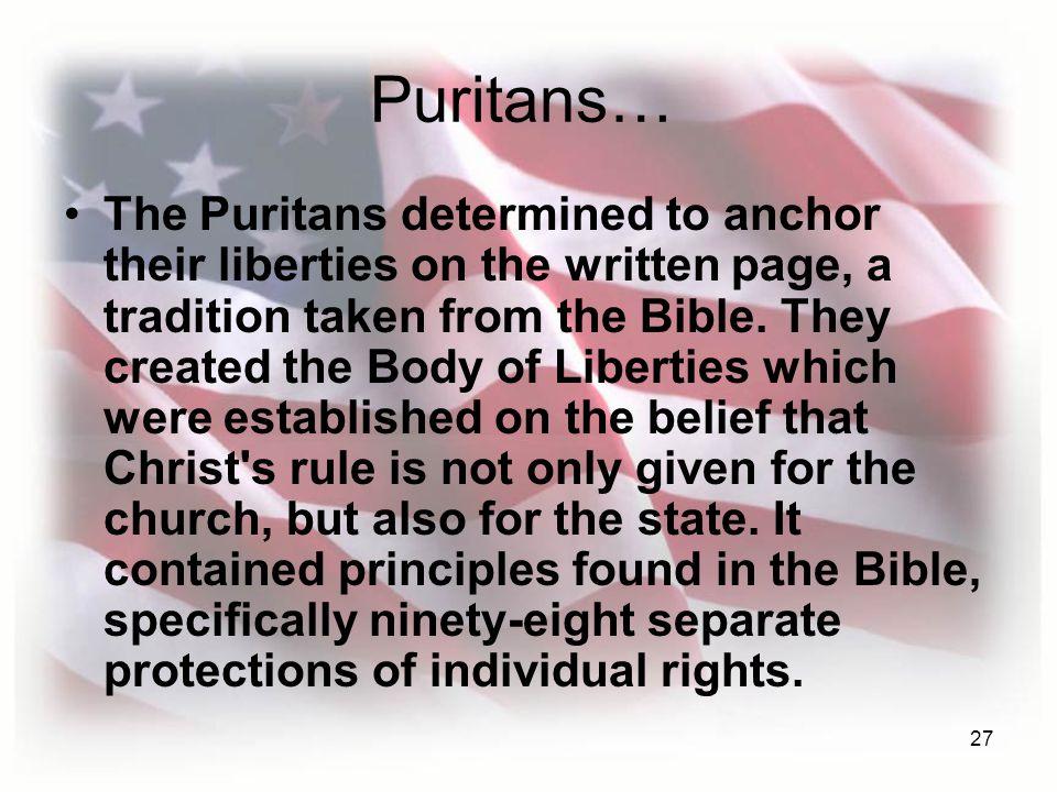 Puritans…
