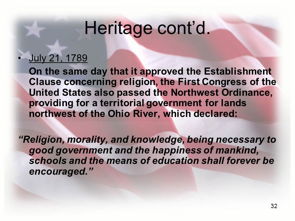 Heritage cont'd. July 21, 1789.