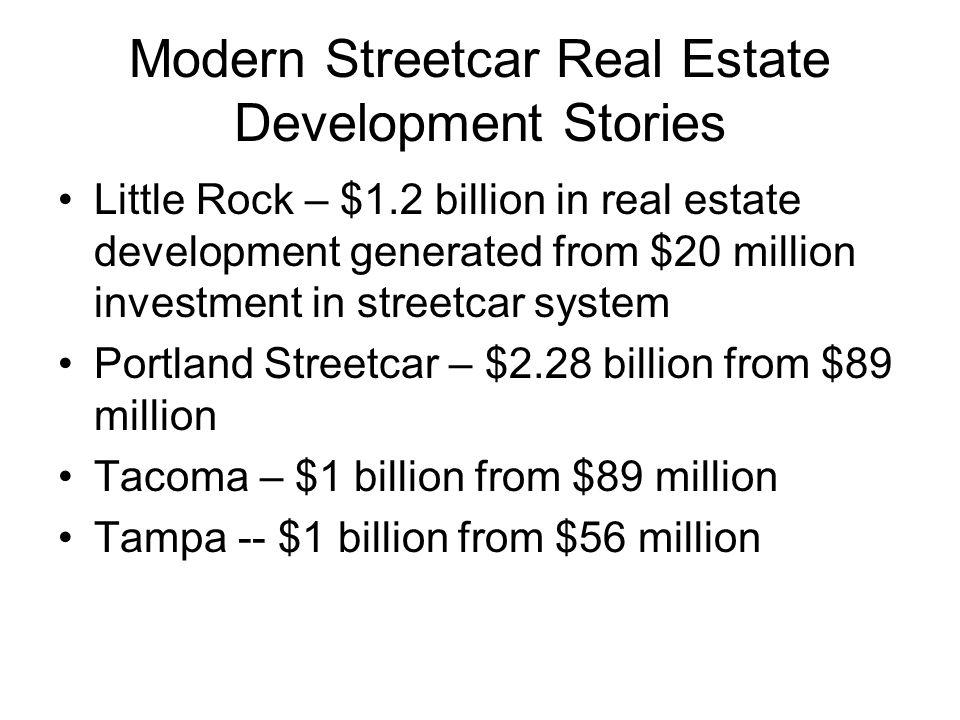 Modern Streetcar Real Estate Development Stories