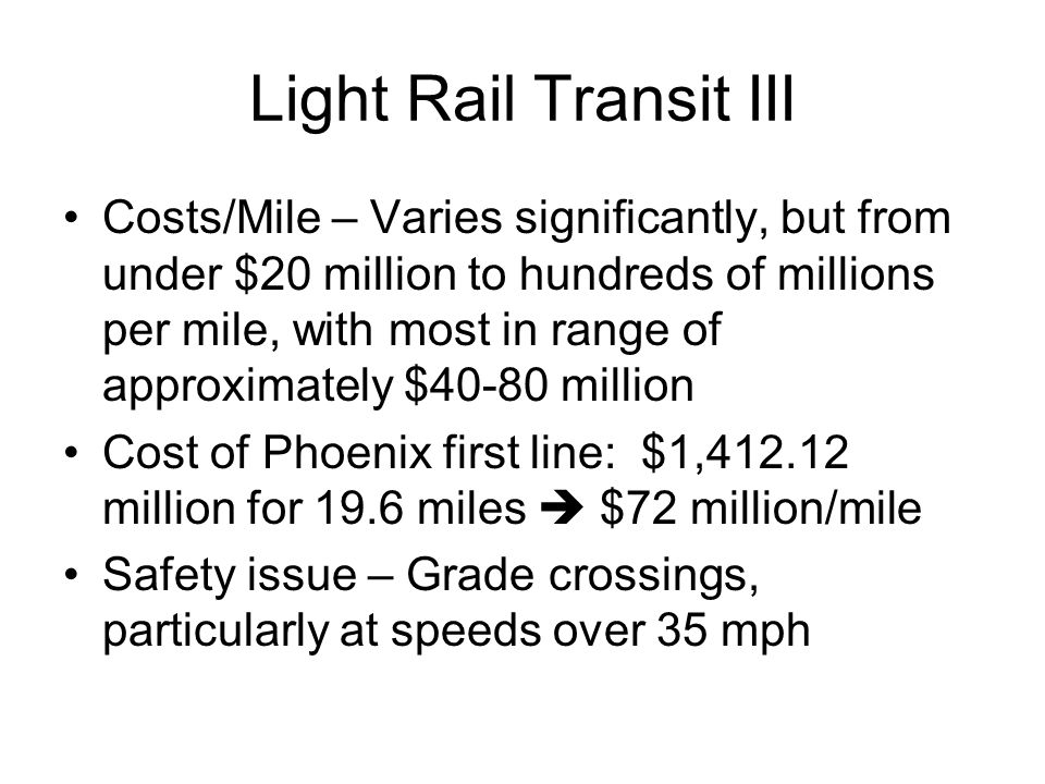 Light Rail Transit III