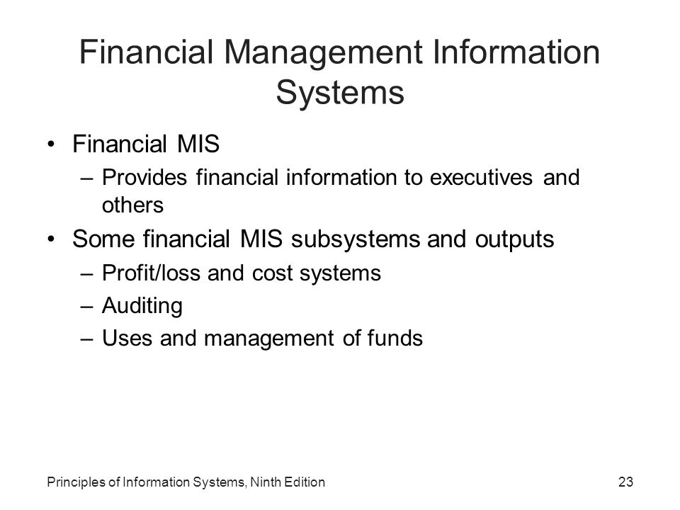 Financial Management Information Systems