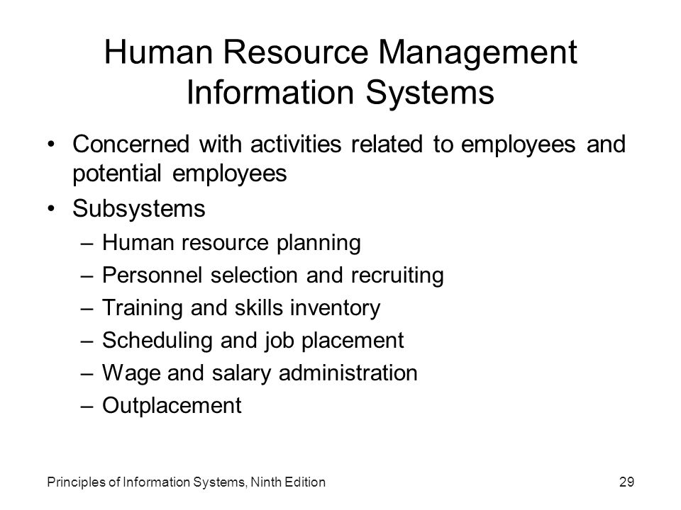 Human Resource Management Information Systems