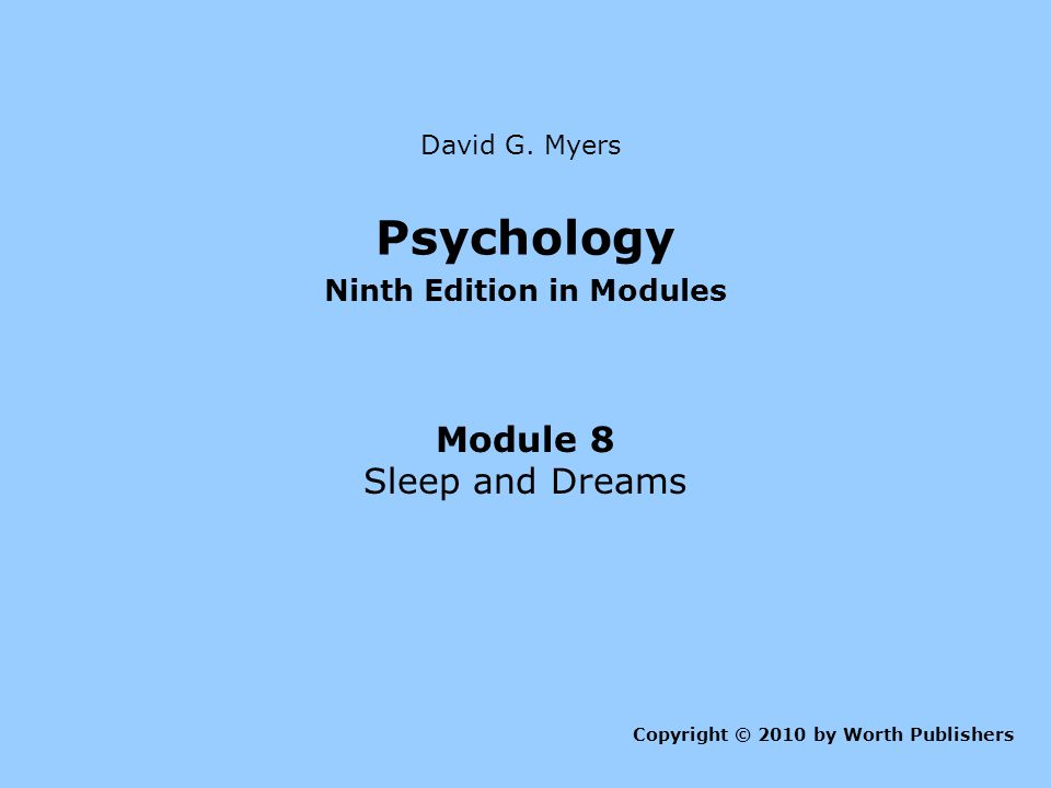 Ninth Edition in Modules
