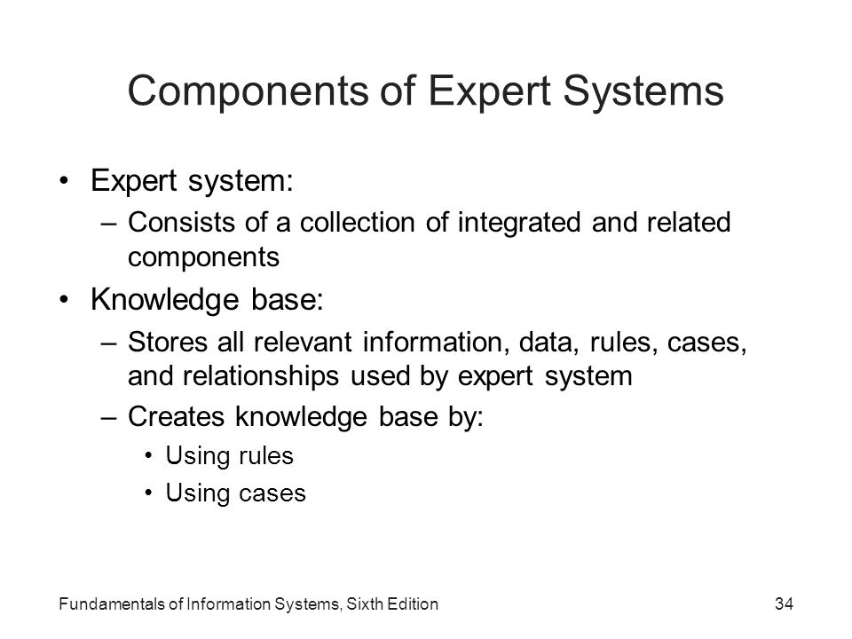 Components of Expert Systems
