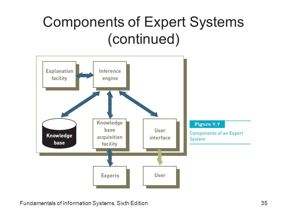 Components of Expert Systems (continued)