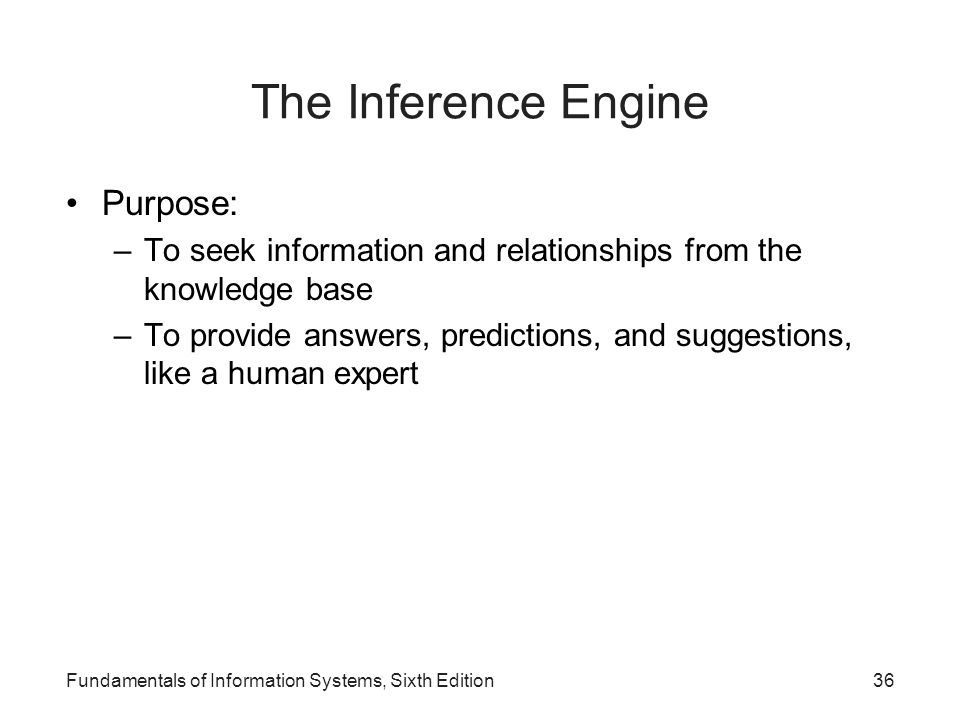 The Inference Engine Purpose: