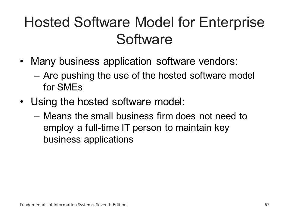 Hosted Software Model for Enterprise Software