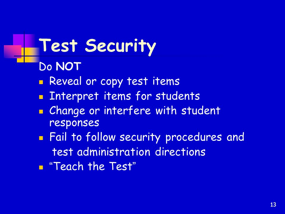 Test Security Do NOT Reveal or copy test items