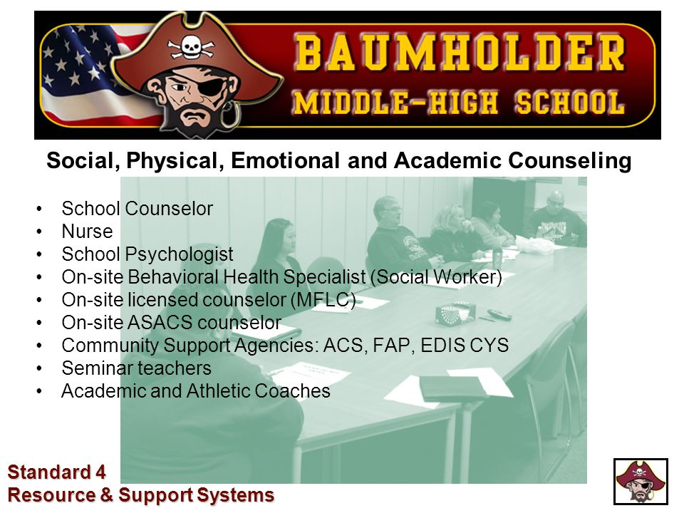 Social, Physical, Emotional and Academic Counseling