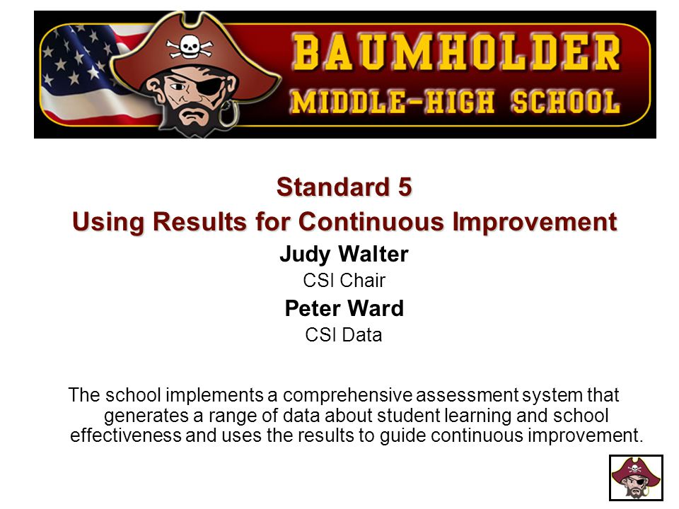 Using Results for Continuous Improvement