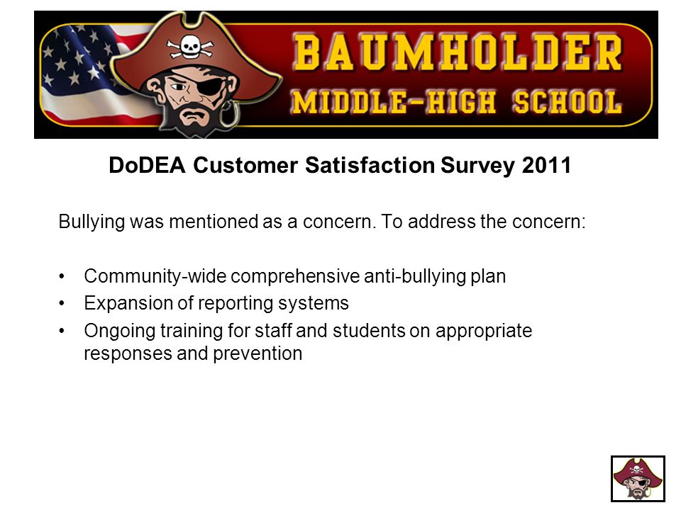 DoDEA Customer Satisfaction Survey 2011